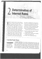 Capital Markets Determination of Interest Rates