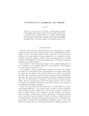 CONTINUITY IN ALGEBRAIC SET THEORY