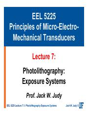 EEL 5225-L7 - Photolithography Exposure Systems.pdf