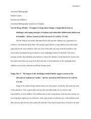 Annotated Bibliography Treatment of Orphans.docx