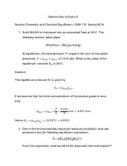 chem Solution key Exam 2. Nuclear chemistry and equilibrium.pdf