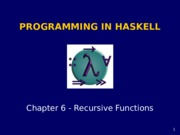 Haskell chapter6