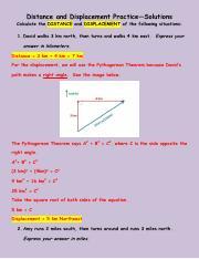 Distance & Displacement Practice Problem Worksheet (8 ...