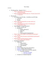 Geol 106 Test 4 Notes