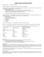 Agriculture and Biological Assets with Exercises