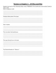 Tension in the Chapter 3 explanation worksheet