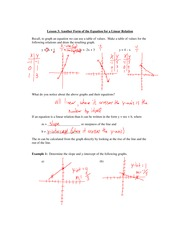 6.3 Another Form of the Equations for a Linear Relation