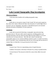lab cover sheet Lake Carmel Topographic map.docx