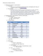Pharmaceutics Test 2 Summary Fall 13