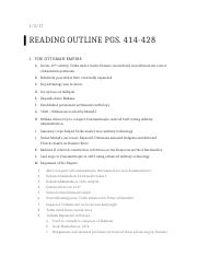 Reading Outline pgs 414-428