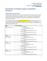 Essentials of English Semester 1 Completion Outline 16-17_CLoFaso