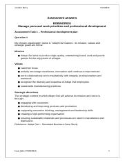 Assessment answers - BSBWOR501.docx