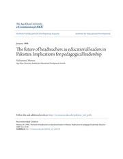The future of headteachers as educational leaders in Pakistan- Im