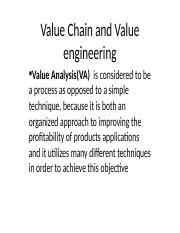 Value Chain and Value engineering.pptx
