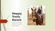 Extend 1-1 Horseback Riding Lessons