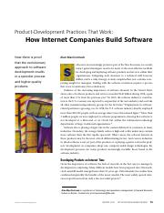 Waterfall Model - How Internet Companies Build Software - MIT Sloan