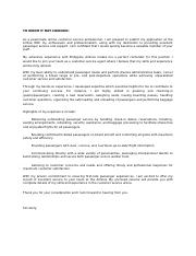 Cover Letter-Customer Service Agent (Airlines).docx