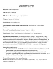 Syllabus MARK 5328 Spring 2014