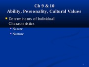 ch 9 & 10 ability & personality