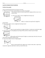 Homework Introduction To Motion