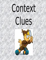 Context Clues Powerpoint Spider Test Vocab
