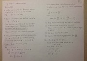Lecture on Implicit Differentiation