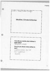 Weather, Climate and Biomes