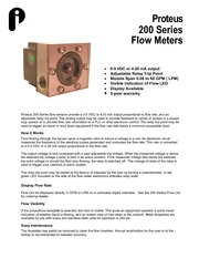 Proteus 200_flowmeter_Data_Sheet