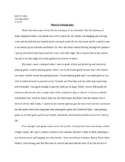 MUCT 1010 Music Essay