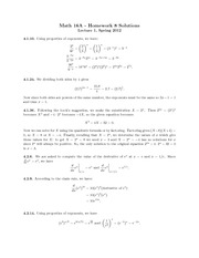 Analytic Geometry and  Homework Solutions 8
