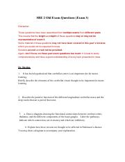 SBE 2 Old Exam Questions
