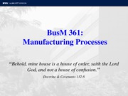 BusM 361 Manufacturing Processes Fall 11