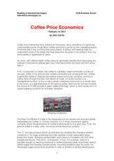 2-Coffee Price Economics and a Latin America's Story