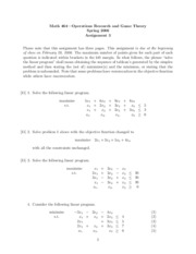 Math 464 Assignment 3
