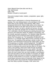 Art History 110 Sample Essay