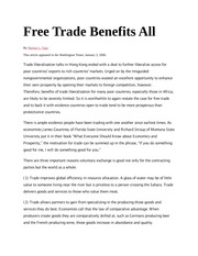 Free Trade Benefits All