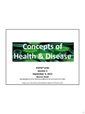 S02 - Concepts of Health & Disease (1 slide per page)