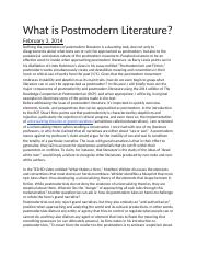 What is Postmodern Literature.docx