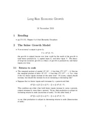 15. long run economic growth
