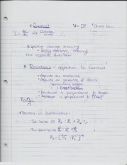 Notes about circuits