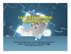 Level 5 Leadership -
