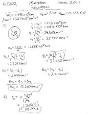 AE202 Spring 2011 Midterm Solutions