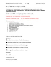 GES Final Exam Study Guide 2