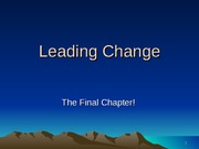XV - Leading Change