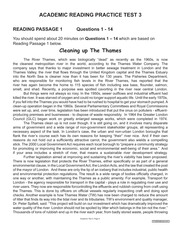 Academic Reading Practice Test 3 - ACADEMIC READING PRACTICE