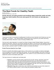 The Best Foods for Healthy Teeth - Dental Health Guide - Everyday Health