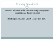 AFRO 005 Framing Question 5