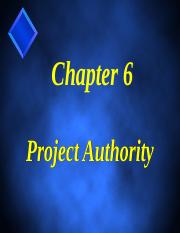 Ch. 6 Project Authority