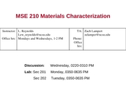 MSE 210 Lecture 1