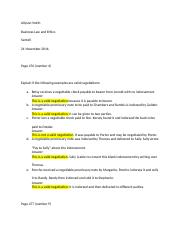 Business Law Homework 3